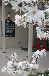 Welcome - Spring - Entrance to St. George's in...